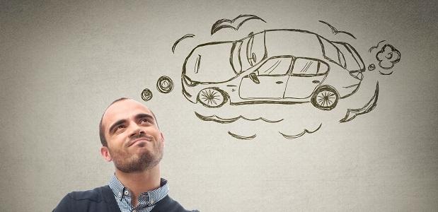 sich ein Auto vorstellen