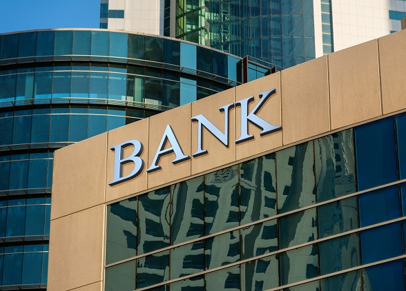 Autokredit - Fassade einer Bank