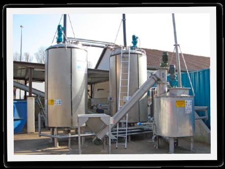 Biomasse Vergasung zu Fluessiggas