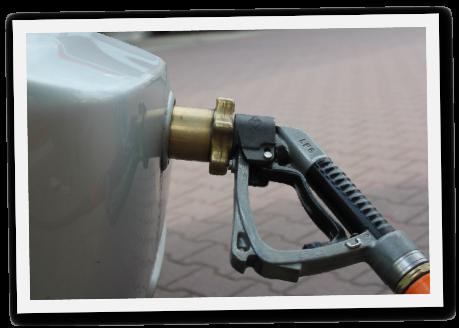 Autogas Tank-Einfüllstutzen in der Stoßstange