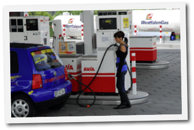 Westfalen AG Tankstelle mit LPG-Zapsäle