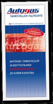 Autogas Tankstellen Faltkarte