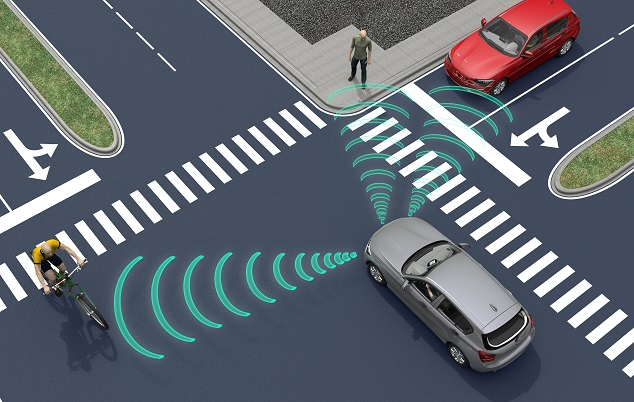 Verkehrssituation beim autonomen Fahren