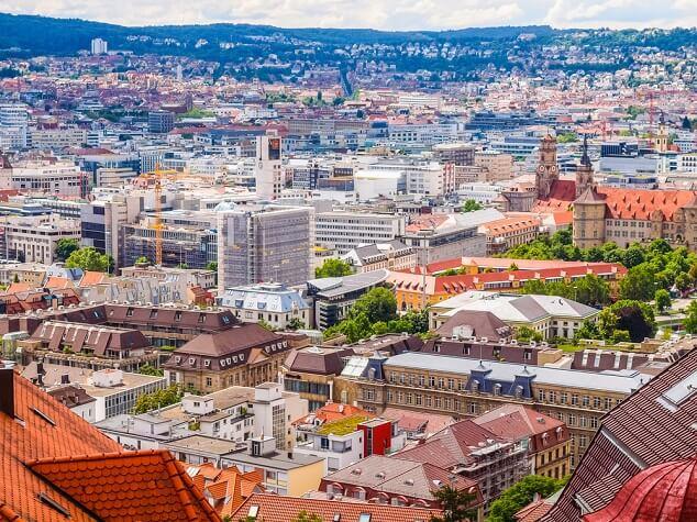 Ausblick auf die Stuttgarter Innenstadt