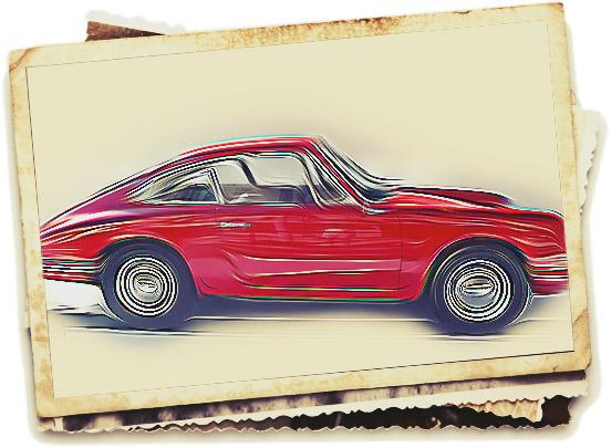 Skizze eines Porsche 911