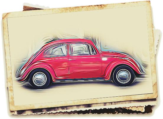 Skizze eines VW Käfer