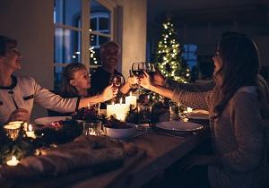 Abendessen an Weihnachten