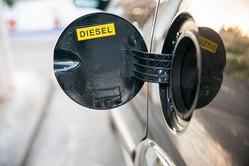Tankdeckel mit Aufschrift Diesel
