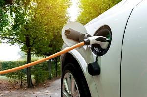 Ladestation mit Elektroauto