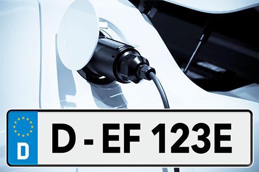 Kennzeichen Elektrofahrzeuge