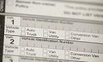 Dokument mit Feld für die Fahrzeug-Identifizierungsnummer