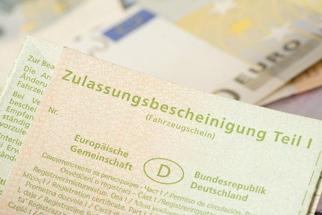 Fahrzeugpapiere-Verlust: Zulassungsbescheinigung Teil I (Fahrzeugschein)