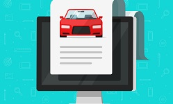 Grafik eines Klemmbretts mit Auto