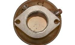 Detailansicht eines Rußpartikelfilters