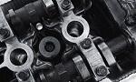 Nahaufnahme eines Zylinders in einem Automotor