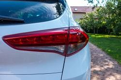 Detailansicht einer Rückleuchte an einem Hyundai Tucson