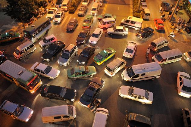 Chaos im Straßenverkehr