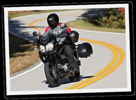 Motorrad auf Autogas Suzuki V-Strom