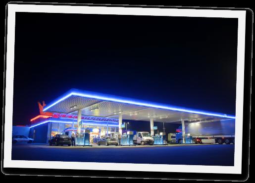 Tankstelle mit Zapfanlage