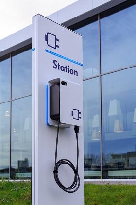 Umweltförderung für Elektroautos: Ladestation