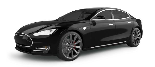 3D-Modell eines Tesla Model S